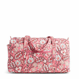 4cac46e8d6f0 Vera Bradley Large Duffel Bag Blush Pink Travel Weekender Luggage ...