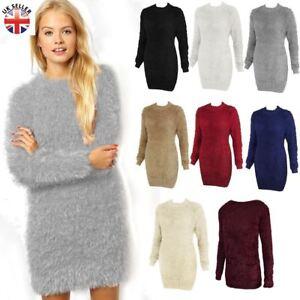 Ladies Womens Girls Fluffy Jumper Soft Fur Long Sleeve Stretchy Top Cardigan