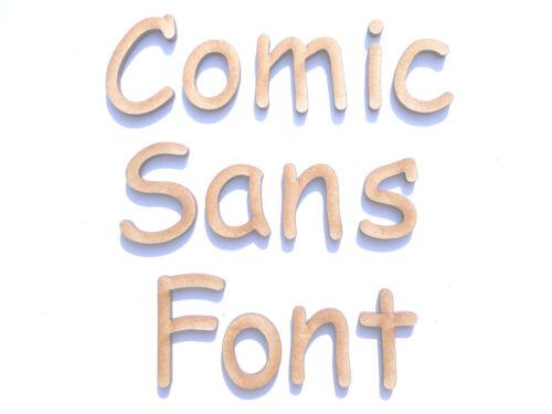 COMIC SANS FONT WOODEN LETTERS lettering craft card wall art door sign signage