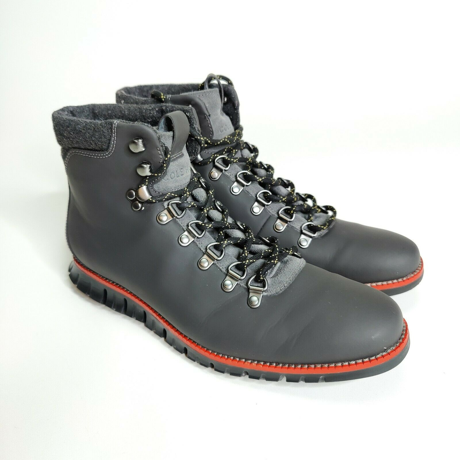 Cole Haan ZeroGrand Hiker Boot Size 9.5 Magnet Cherry Style C31400