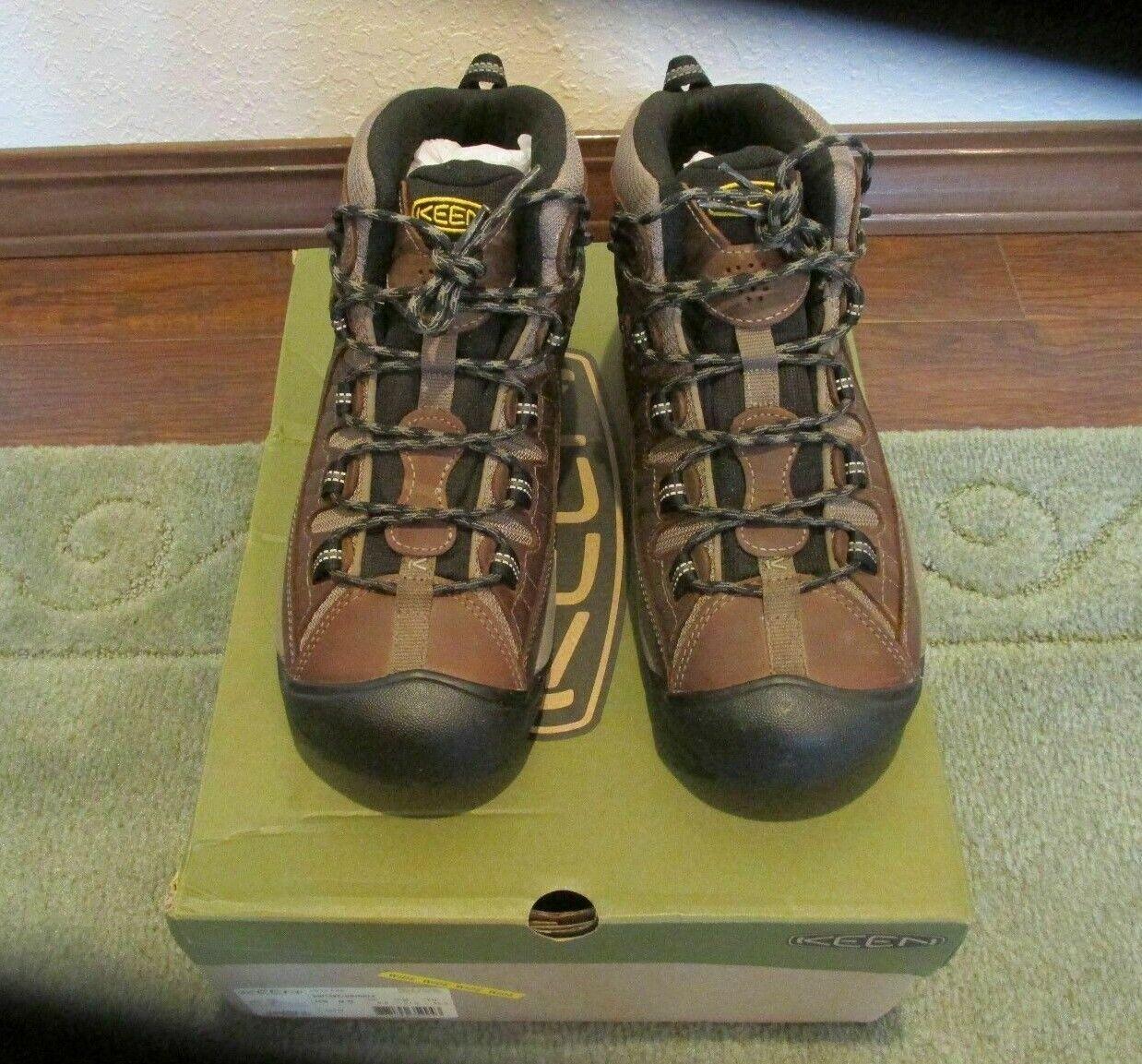 KEEN 1012126 al aire libre para Hombre botas Impermeables de mediados de ancho Targhee II Zapatos De Senderismo