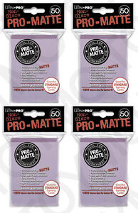 200-4pk-ULTRA-PRO-Pro-Matte-Deck-Protector-Card-Sleeves-Magic-Standard-Lilac