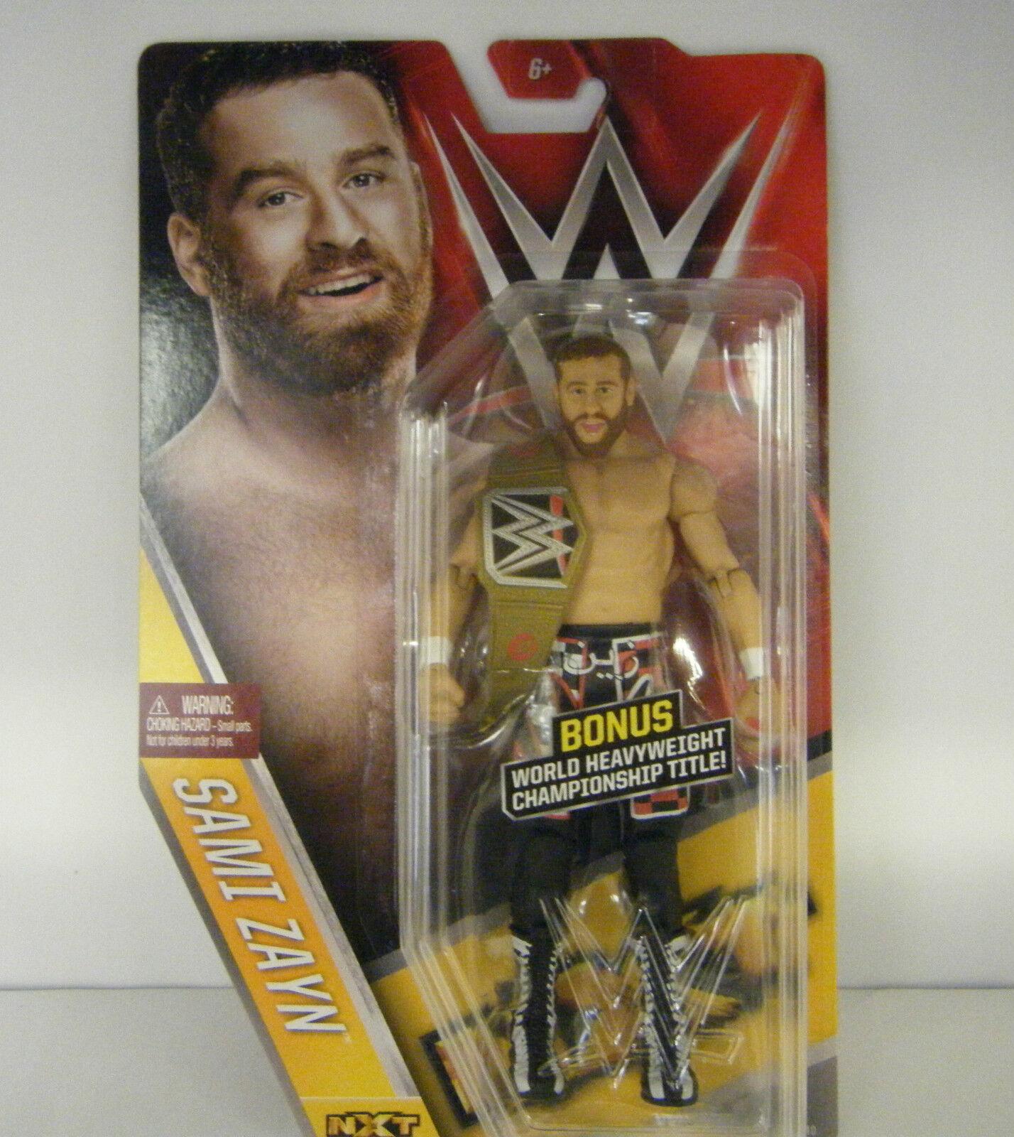 WWE Sami Zayn Jagd Gürtel wwf nxt mattel Basic Serie 61 WRESTLING ACTIONFIGUR