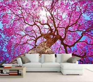 Bellissimo-fiore-di-ciliegio-fiori-3D-Tenda-Bloccare-Foto-Stampa-Tendaggio-Drapp