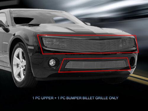 Polished Fedar Billet Grille Combo For 2010-2013 Chevy Camaro LT//LS V6