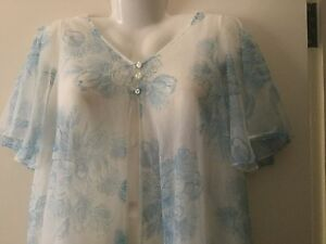 Vintage-1950s-Blue-Floral-two-layer-Negligee-Patolaine-Lingerie-of-Refinement