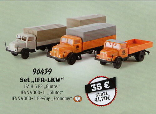 Set  IFA camion , 35 ans Brekina, h0 voiture modèle 1 87, 90439