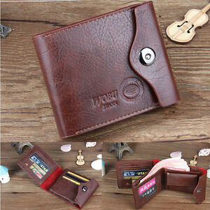 Men-039-s-Leather-Bifold-Wallet-Credit-ID-Card-Holder-Mini-Purse-Money-Clip-2-Colors