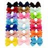 20 PCS Baby Big Hair Bows Boutique Girls Alligator Clip Grosgrain Ribbon Cute