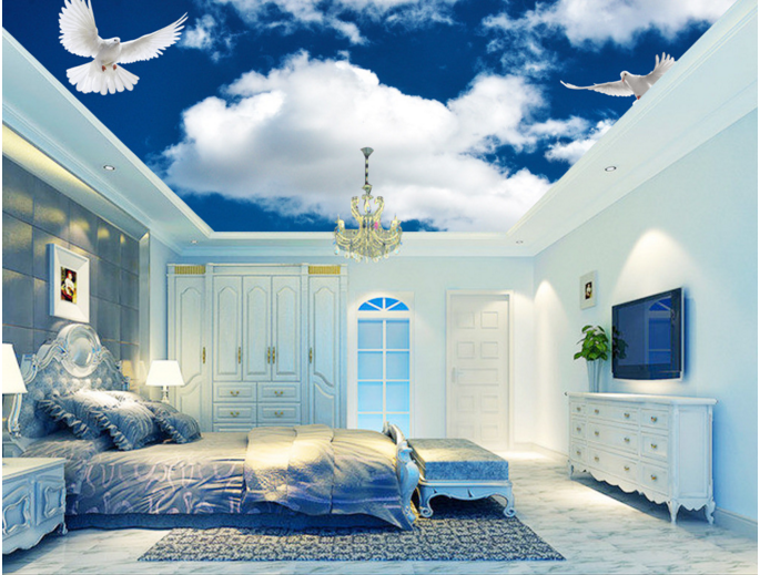 3D Wolken Tauben 9977 Fototapeten Wandbild Fototapete BildTapete Familie DE Kyra
