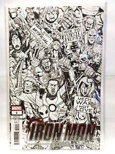 Iron-Man-2020-1-Fiesta-Boceto-Portada-Variante-Nm-1st-Estampado-Marvel-Comics