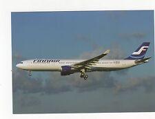 Finnair A330-302 at Toulouse Aviation Postcard, A637