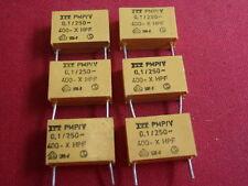 KONDENSATOR HOCHVOLT ITT 0,1µF 250V~400V= gelb 27x15x7mm BIPOLAR   6x      23832