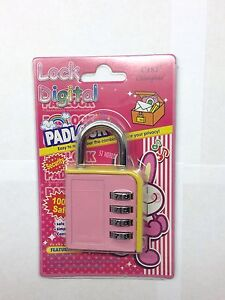 Digit-Resettable-Combination-Padlock-4-amp-3-Coded-Lock-School-Gym-Locker-Sheds