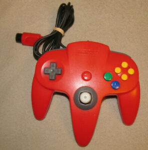 Official-N64-Controller-Red-Nintendo-64-Remote-Genuine-OEM-Tight-Stick-NUS-005