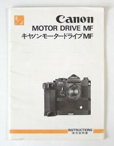 Details about Canon Motor Drive MF Instruction Manual Original (English  Japanese)