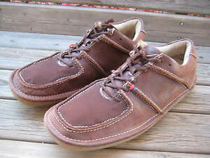 Ben-Sherman-Men-039-s-Size-13-Brown-Canvas-and-Leather-Sneakers-Shoes