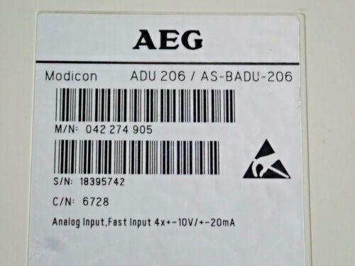 AEG MODICON ADU206//AS-BADU-206 ANALOG INPUT