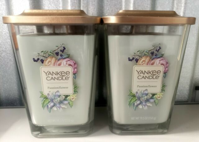 Yankee Candle Passion Flowers Lot of 2 Elevation 19.5 OZ. First Quality