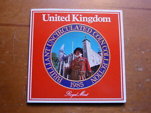 BRITISH-UNITED-KINGDOM-BRILLIANT-UNCIRCULATED-COLLECTION-OF-SEVEN-COINS-1985