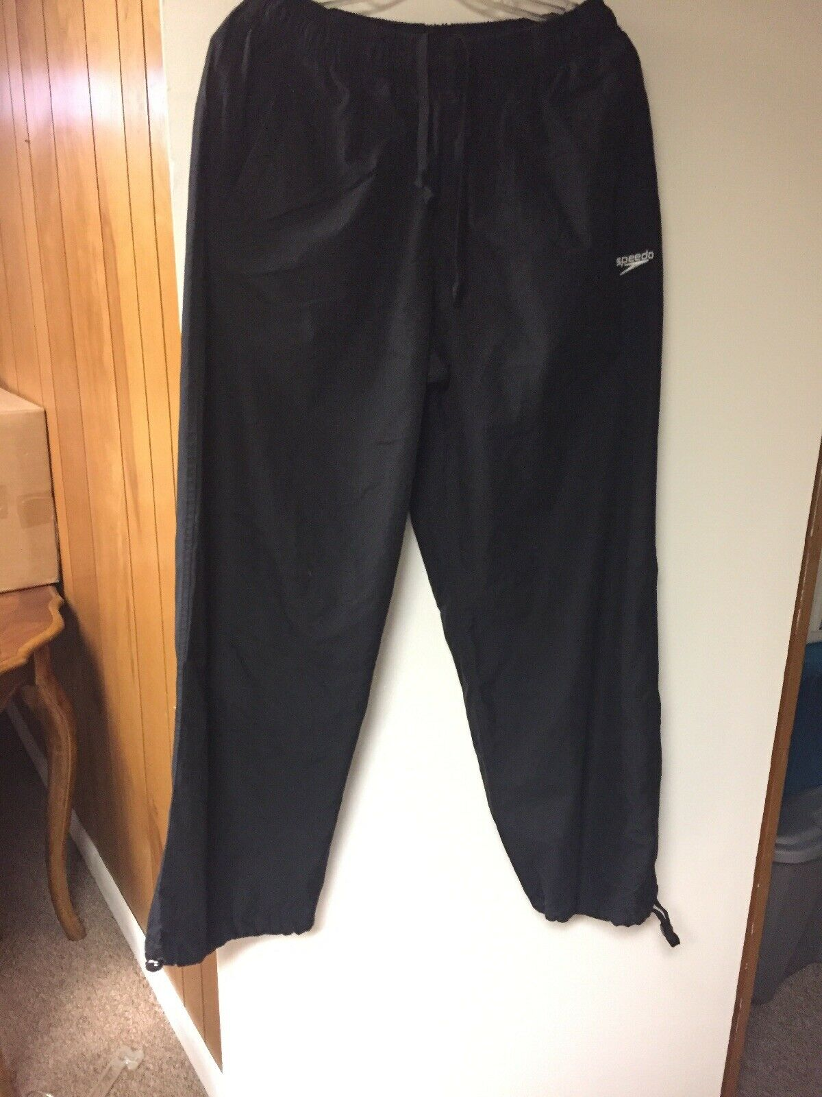 Speedo Men's 100% Polyester water resistant pants with adjustable scrunch