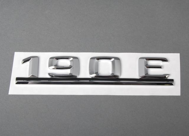 NEW GENUINE MERCEDES BENZ MB C CLASS W201 190E REAR TRUNK EMBLEM BADGE