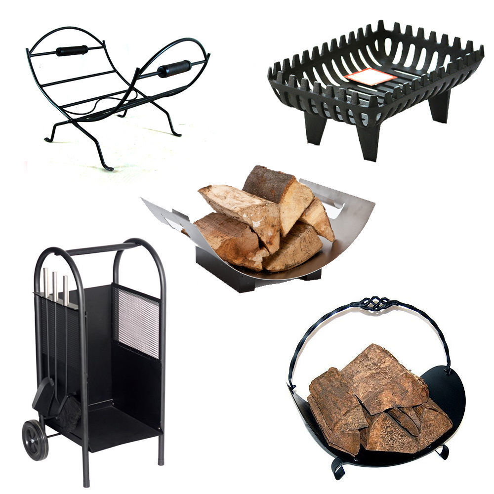 log holder cradle fireplace wood coal basket log store rack