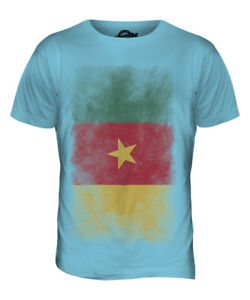 fdae21a77 CAMEROON FADED FLAG MENS T-SHIRT TEE TOP CAMEROUN FOOTBALL ...