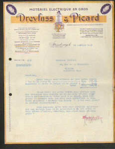 STRASBOURG-67-MATERIEL-ELECTRIQUE-amp-AMPOULES-LAMPE-034-DREYFUSS-amp-PICARD-034-en-1931