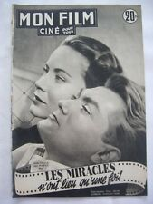 MON FILM N° 268 LES MIRACLES N'ONT LIEU QU'UNE FOIS Jean MARAIS Rita HAYWORTH