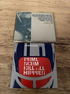 Primal Scream: Burning Wheel CD (promo) & Kill All Hippies Single CD