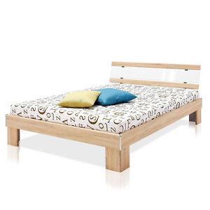 futonbett 140x200 bett rhone sonoma eiche mit matratze und. Black Bedroom Furniture Sets. Home Design Ideas