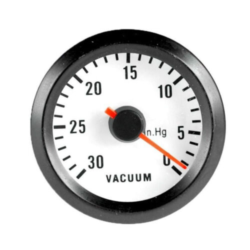 "Black Shell 2/"" 52mm Car Motor Universal LED Vacuum Gauge Meter"