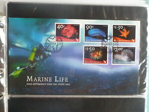 NEW-ZEALAND-2003-ROSS-DEPENDANCY-MARINE-LIFE-SET-5-STAMPS-FDC-FIRST-DAY-COVER