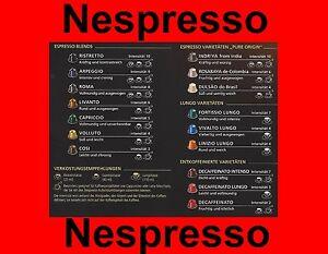 nespresso kaffee kapseln ausverkauf alle sorten freie auswahl stangen ebay. Black Bedroom Furniture Sets. Home Design Ideas