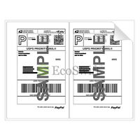 (300) 8.5 X 5.5 Xl Premium Shipping Half-sheet Self-adhesive Ebay Paypal Labels on sale