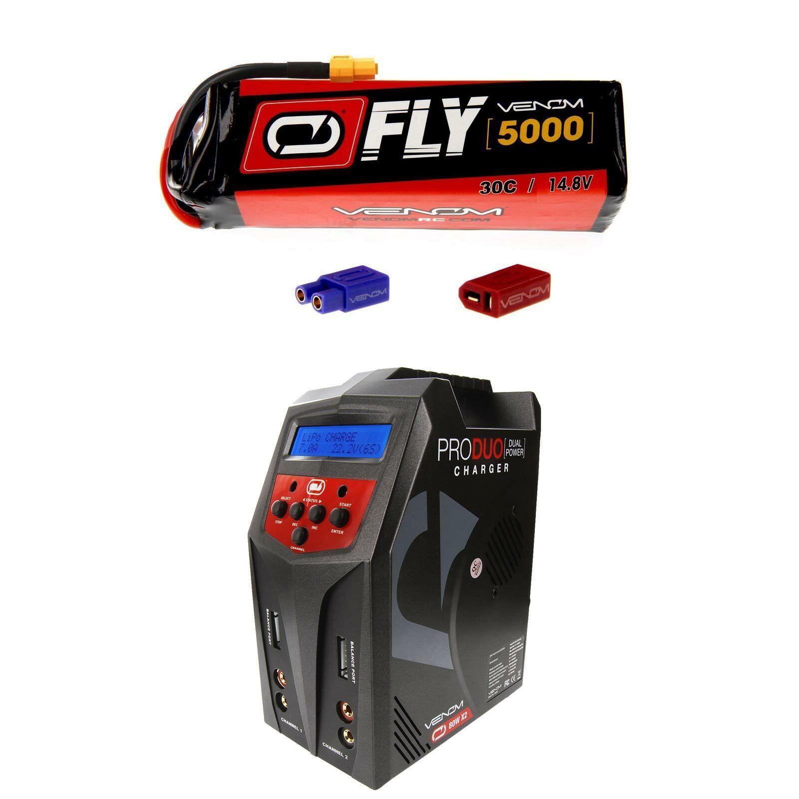 Venom volar 30C 4S 5000mAh 14.8V Batería Lipo Y Cargador Combo Pro Duo