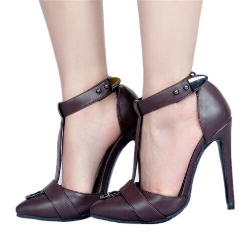 club del Hebilla del Tacones Tobillo Zapatos Stilettos T de fiesta correa del puntiagudo dedo altos pie wEqPU0f