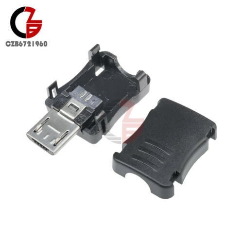 20Pcs Micro USB 5 Pin T Port Male Plug Socket Connector/&Plastic Cover