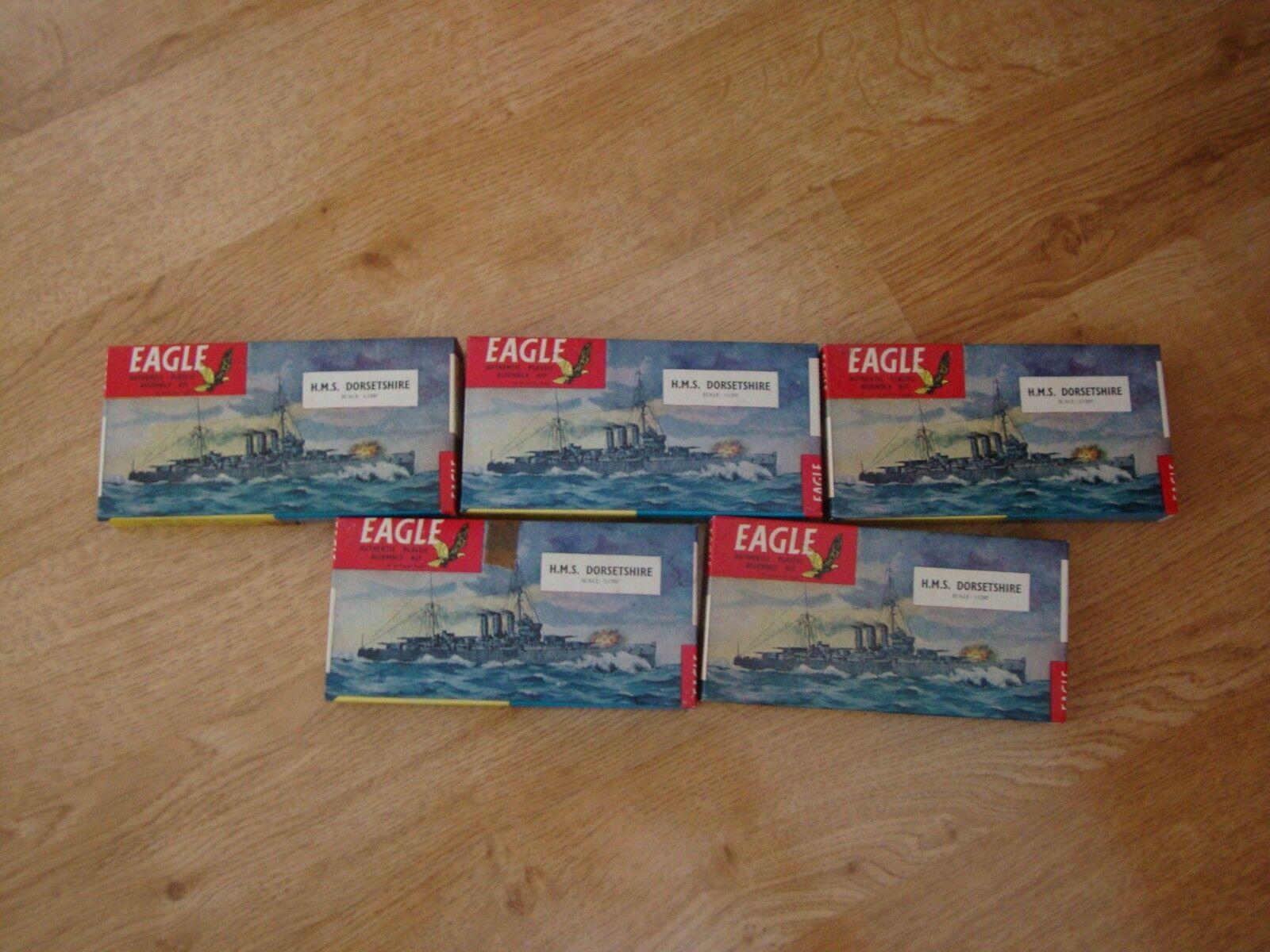 Job Lot RARE 5 x EAGLE Model Kits - HMS Dorsetshire 1 1200