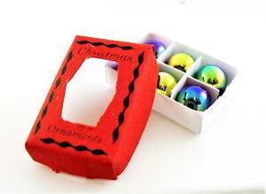 Puppenhaus-Schachtel-mit-Weihnachtskugeln-1-12-Weihnachtsbaum-Deko-Deko-Zubehoer