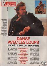 Coupure de presse Clipping 1991 Kevin Costner Danse avec les Loups (2 pages 1/2)