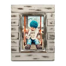 Nicole Miller Home Wood Distressed White Washed 4x4 Picture Frame