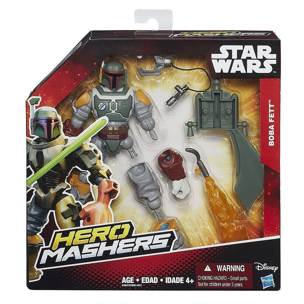 Star Wars Boba Fett Hero Mashers Figure Boxed The Force Awakens Figurine Toy New