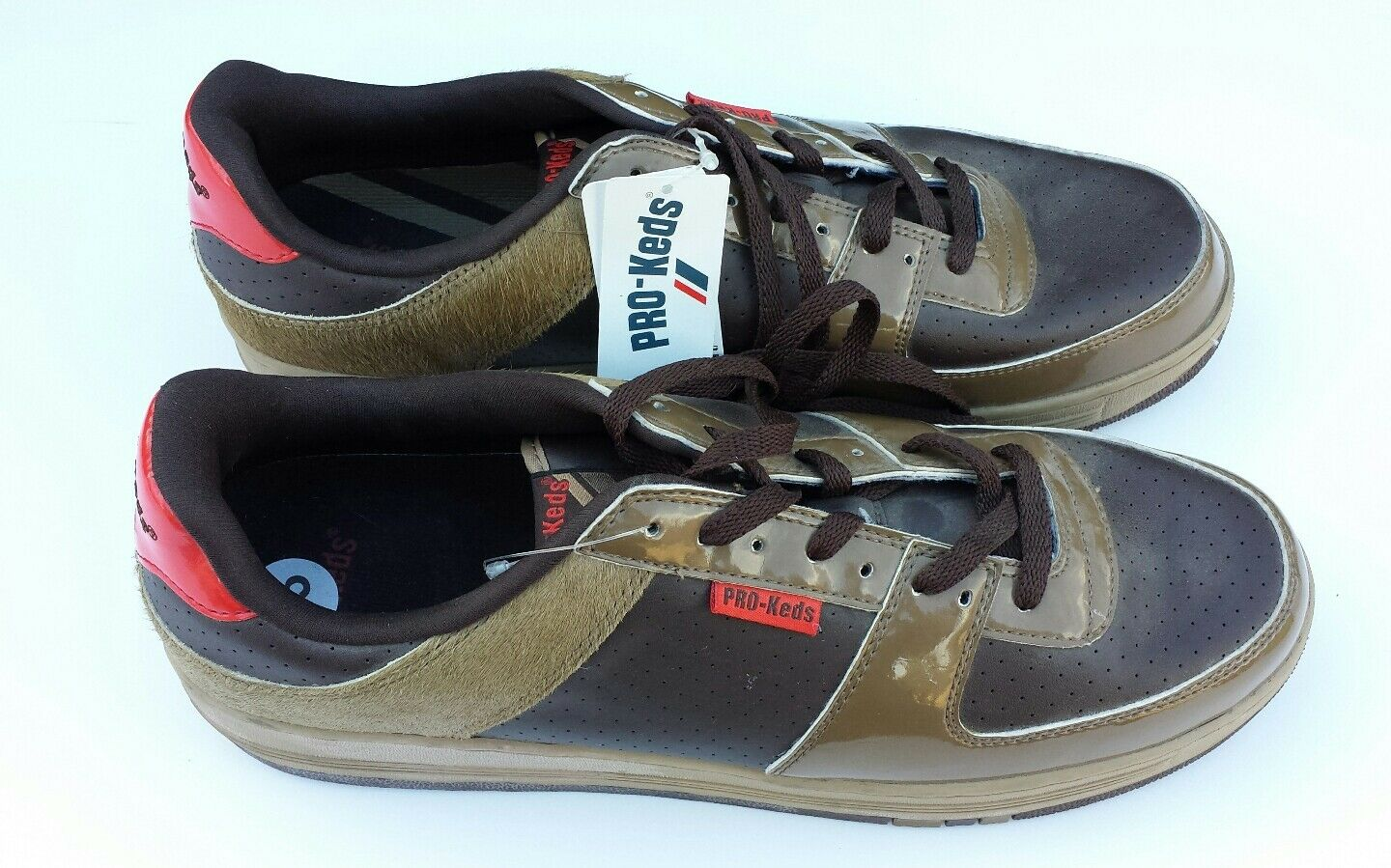 Pro Keds Skater Sneakers Calf Hair Streetwear Lace Up Mens Size 13 New