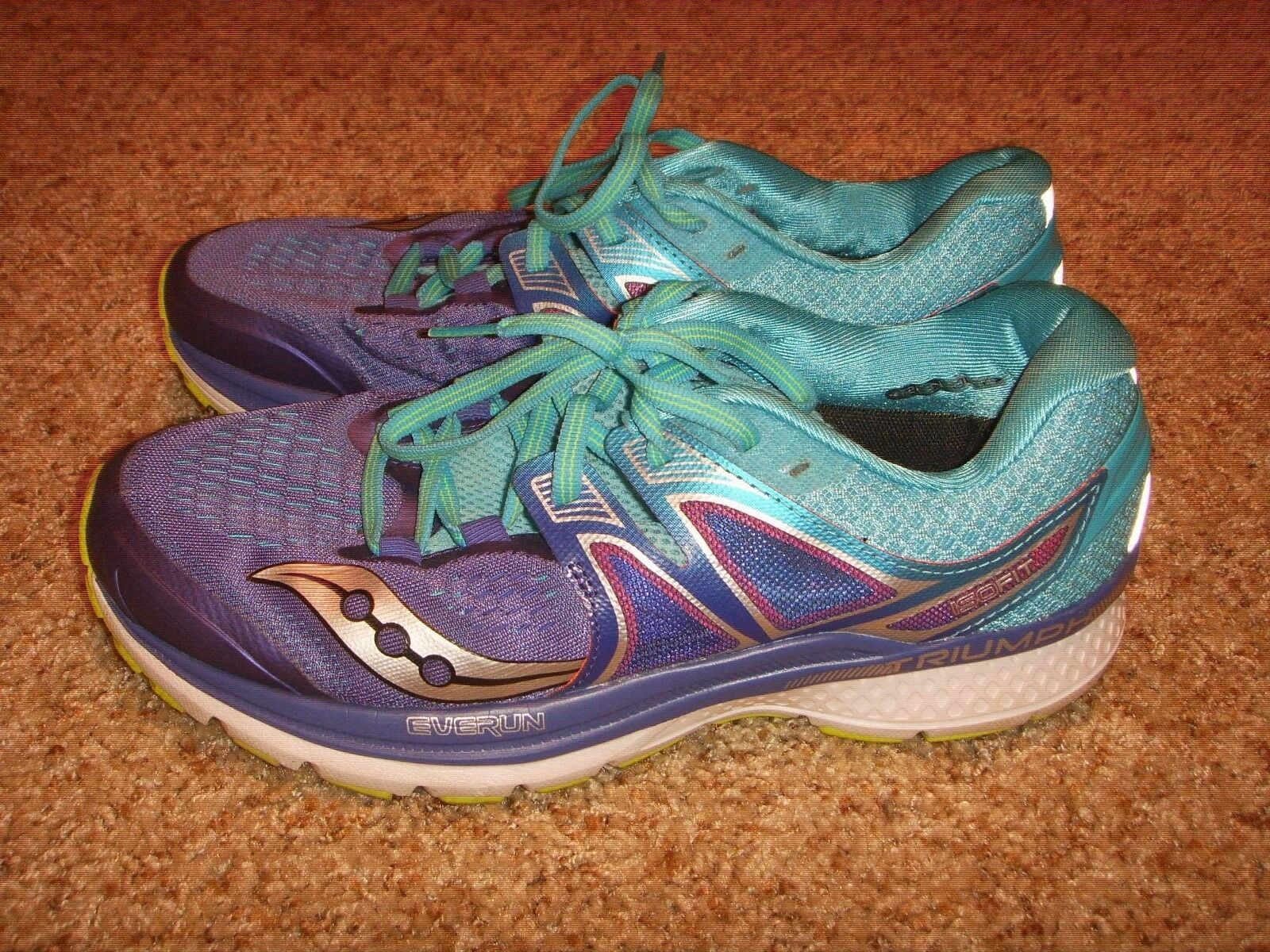 Saucony S10347-1 Triumph ISOfit Purple Running shoes Womens Size 9