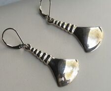 "Robert Lee Morris RLM Studio 1 3/4"" Sterling Silver Elongated Fan Earrings"