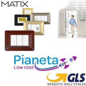 Placche-Compatibile-BTICINO-MATIX-3-4-6-Posti-Moduli-Supporti-PLACCA