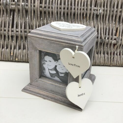 Shabby Chic PERSONALISED Rustic Wood Grandparents Present ANY NAME Photo Cube