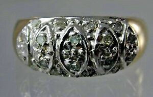 9ct-yellow-amp-white-gold-diamond-ring-dated-1998-size-L-3-3-grams